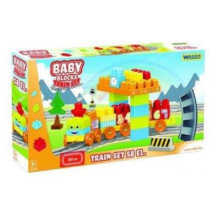 Baby Blocks Мои первые кубики Железная дорога 2,24м 58 деталей 41470