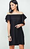 """Міні-плаття Karree """"Каїр"""" А-силует з відкритими плечима (бежевий, р. М,L), фото 6"""