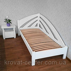 """Детская кровать из массива дерева """"Радуга"""" (90х200) белая, фото 2"""