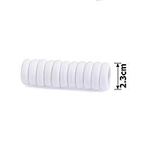Резинка микрофибра. 10 шт. 2,3 см. Калуш. Цвет белый