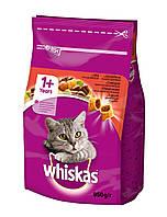 Сухой корм с Говядиной для взрослых кошек 950 г Whiskas Вискас