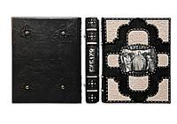 Элитная книга в кожаном переплете Иллюстрированная Библия