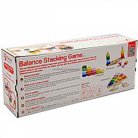 Деревянная развивающая игрушка Пирамидка-балансир (3537), фото 6