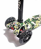 Детский самокат MAXI Military Светящиеся колеса Камуфляж (995689349), фото 2