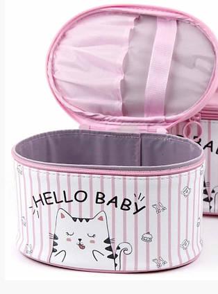 NEW !!! Дорожная косметичка розовая  (  большая  ) 21х16х13 см