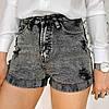 Серые джинсовые женские шорты Relucky 31-8881