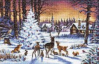 Набор для вышивания нитками Letistitch Christmas Wood (LETI 947)