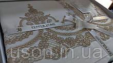 Комплект постельного белья сатин люкс Pepper home евро размер Romance gold