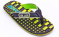 Вьетнамки для мальчиков KITO EC4223-BLACK-YELLOW-MIX размер 32-35 черный-желтый