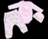 Детский Костюм Божья Мишки Интерлок Розовый 68-74 Р