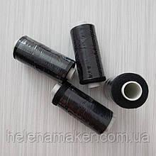 Черные нитки швейные, маленькая катушка 400 ярдов (365 метров)
