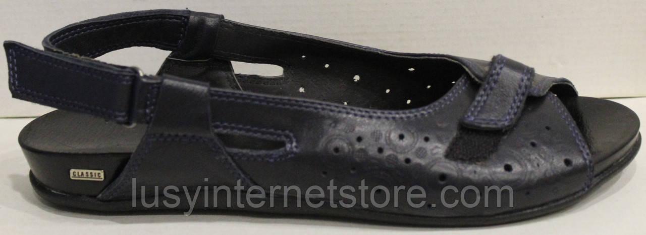 Босоножки черные кожаные большого размера от производителя модель МИ3346-58b