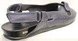 Босоножки черные кожаные большого размера от производителя модель МИ3346-58b, фото 5