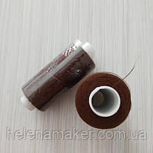 Коричневые нитки швейные, маленькая катушка 400 ярдов (365 метров)