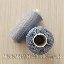 Голубые нитки швейные, маленькая катушка 400 ярдов (365 метров)
