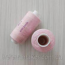 Розовые нитки швейные, маленькая катушка 400 ярдов (365 метров)