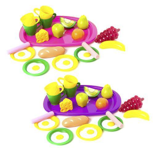 """Поднос с продуктами и посудой """"Завтрак"""" (16 эл) 955в.2"""