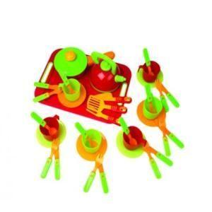 Посуда , 36 предметов, с подносом 04-423