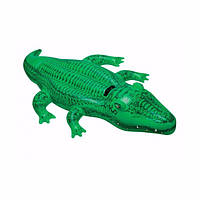 "Детский надувной плотик Intex 58546 ""Крокодил"" (168х86 см) Lil' Gator Ride-On"