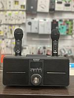 Портативная беспроводная караоке колонка Bluetooth с двумя микрофонами SDRD - SD309