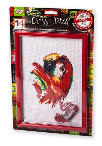 """Вышивка крестиком на канве """"Cross Stitch: Попугай"""" VKB-01-14"""