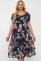 Платье летнее Катаисс р. 54-58 синий, фото 1