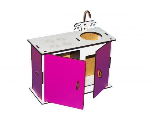 Кухня (бело-розовая) Б1р