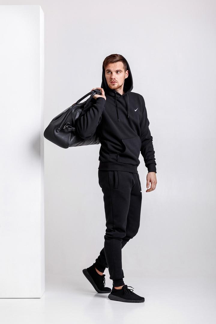 Стильний чоловічий спортивний костюм чорний S, M, L, XL, XXL