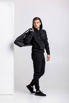 Стильний чоловічий спортивний костюм чорний S, M, L, XL, XXL, фото 2