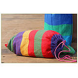 Гамак мексиканский 200*80 полосатый цветной, фото 5
