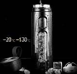 Стеклянный термос с чехлом с заварочным блоком 600 мл, фото 3
