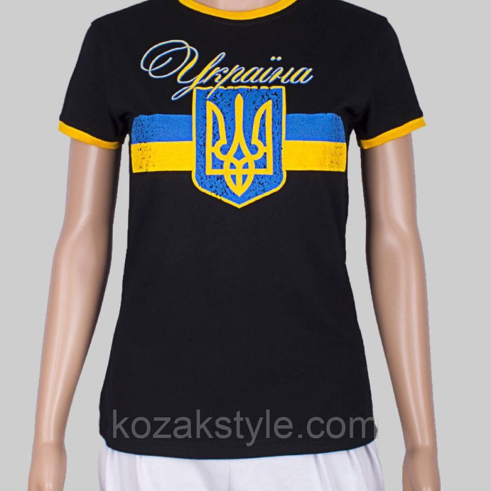 Патріотична футболка жіноча Україна