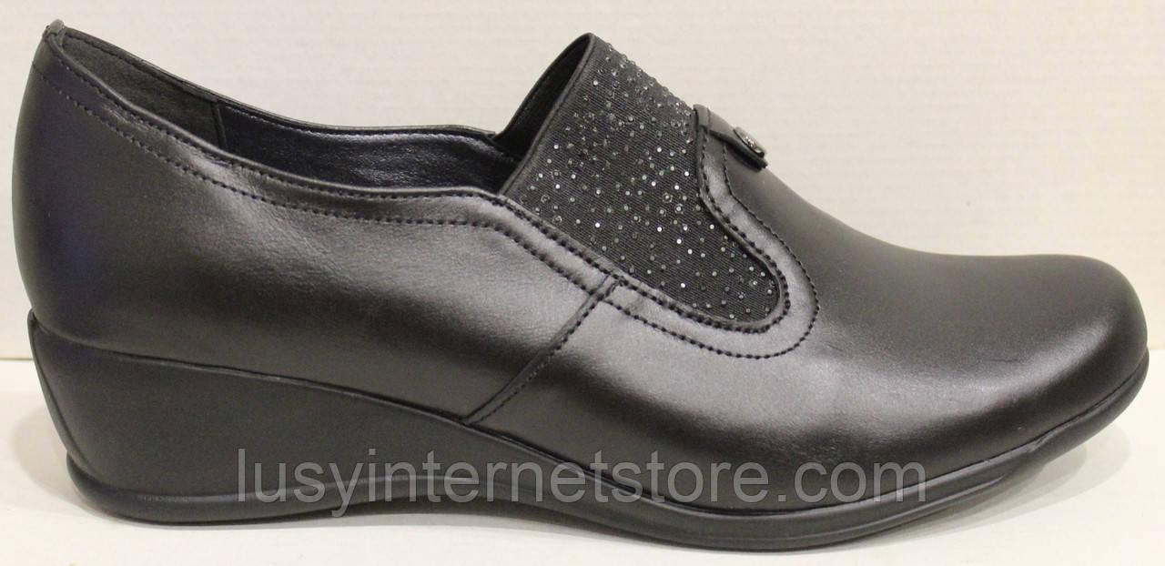 Туфли черные женские на полную ногу от производителя модель БД8Т