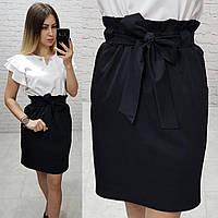 Юбка модная арт. 174 чёрная / черного цвета