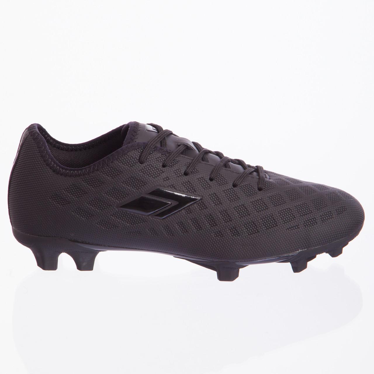 Бутсы футбольная обувь 180306-3 ALL BLACK размер 40-45 (TPU, черный)