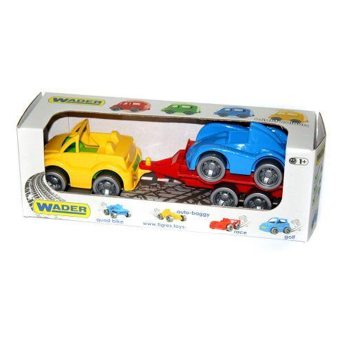 Набор машинок (кабриолет, гоночная машина и прицеп) 39542