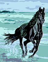 """Картина по номерам. Животные, лошадь """"Энергия"""" 35х45см ROSA START Бесплатная Доставка"""