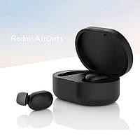 Чехол для наушников Xiaomi Redmi AirDots Цвет чёрный TWS Bluetooth Silicone Case