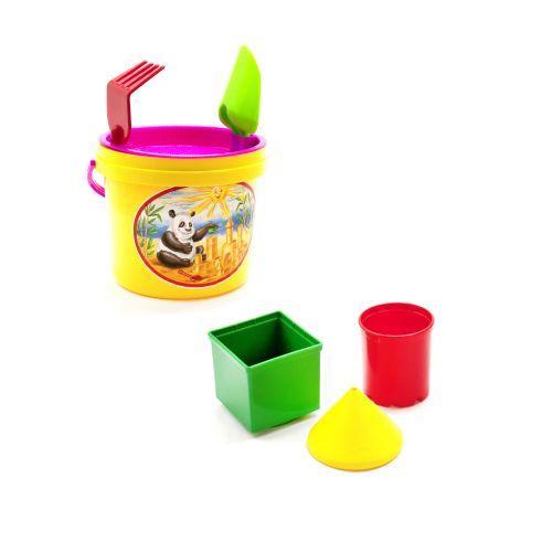 Песочный набор, 7 предметов (жёлтый)