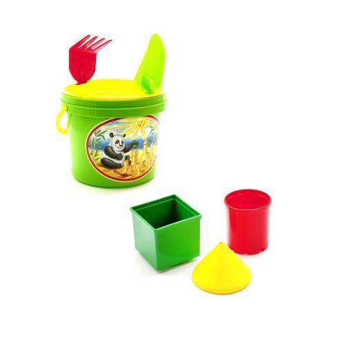 Песочный набор, 7 предметов (зелёный)