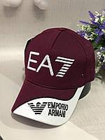 Бейсболка Emporio Armani 56-58 Бордовый (0000316)
