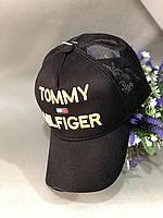 Бейсболка Tommy Hilfiger 56-58 Черный c салатовым (0000330)