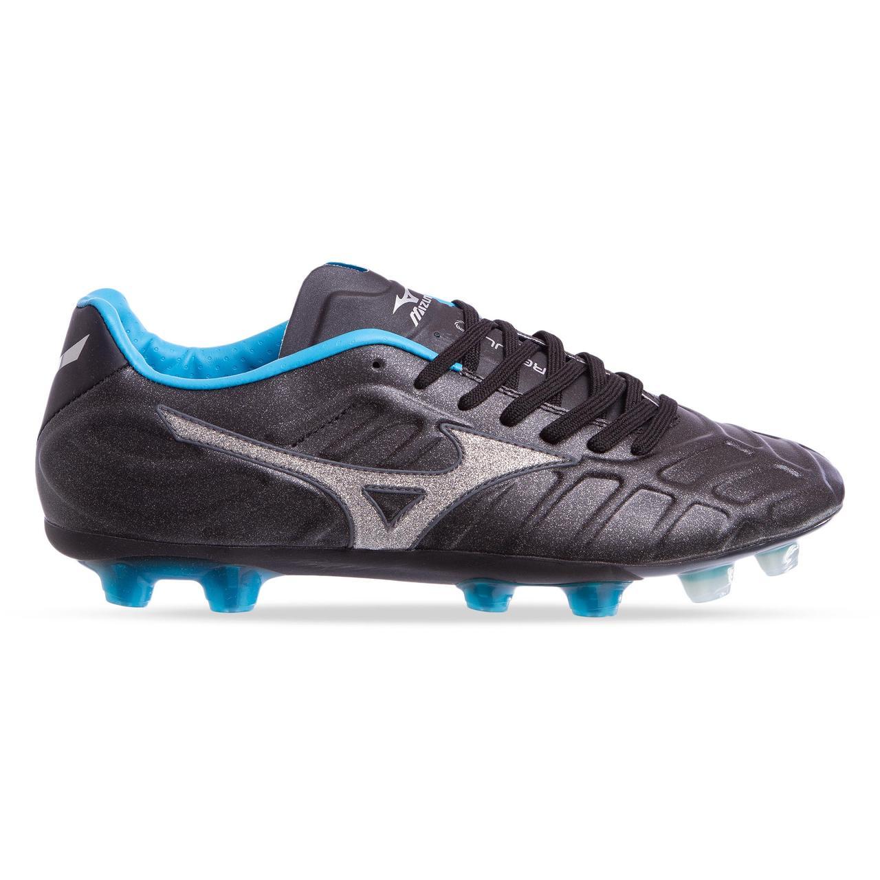 Бутсы футбольная обувь MIZUNO OB-6939-BKB размер 41-45 черный-голубой