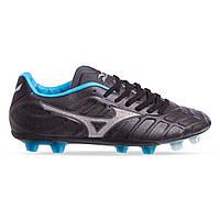 Бутсы футбольная обувь MIZUNO OB-6939-BKB размер 41-45 черный-голубой, фото 1