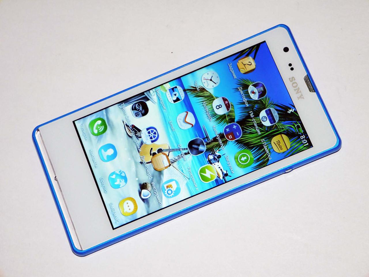 "Телефон Sony M35h Синий MTK6517 - 5"" + Android"