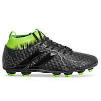 Бутсы футбольная обувь с носком 170706-4 BLACK/L.GREEN размер 40-45 черный-салатовый, фото 1