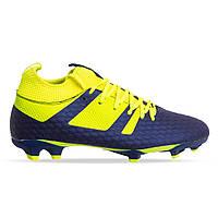 Бутсы футбольная обувь с носком 181239-1 NAVY/LIME размер 40-45 темно-синий-лимонный, фото 1