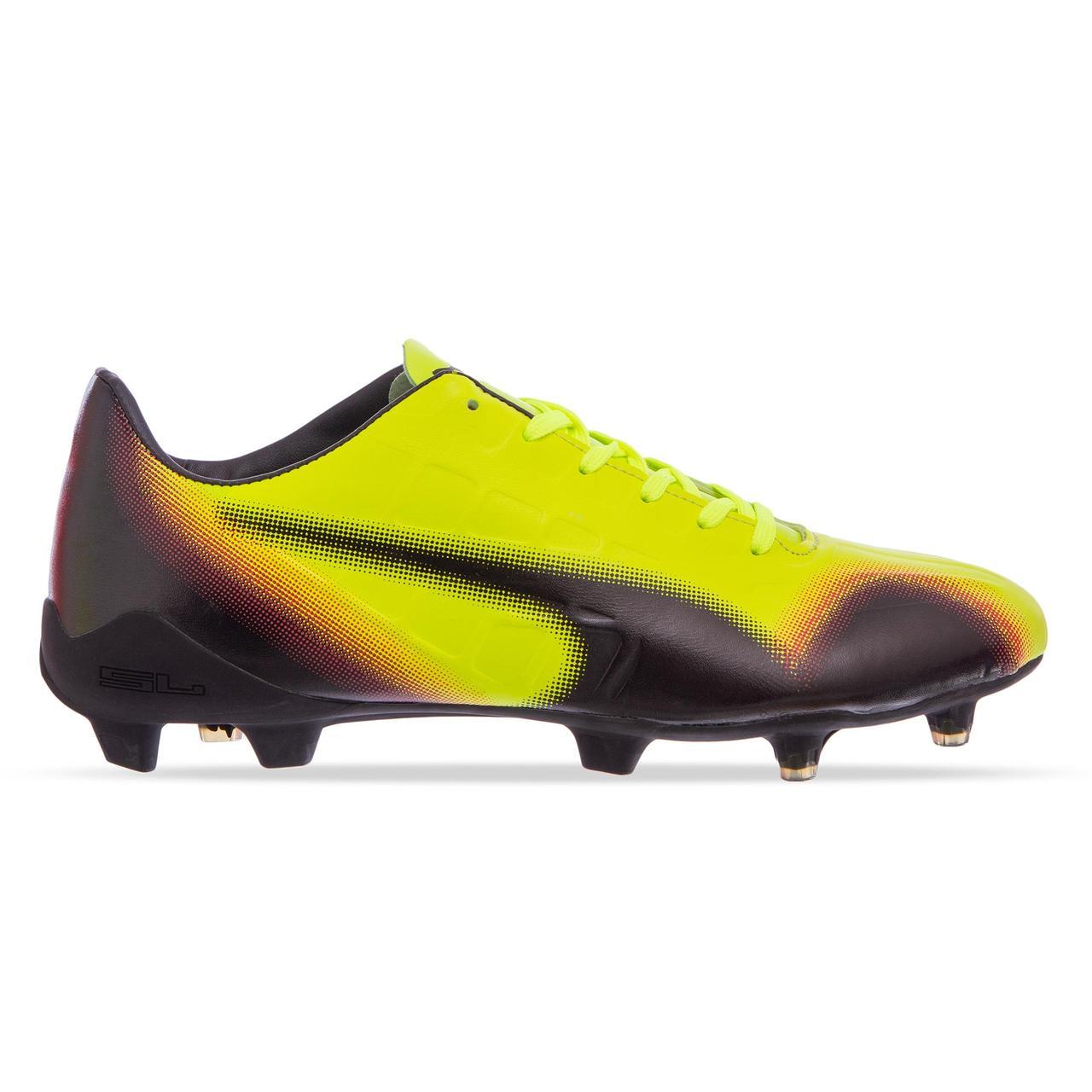 Бутсы футбольная обувь PM 973-1 размер 40-45 лимонный-черный