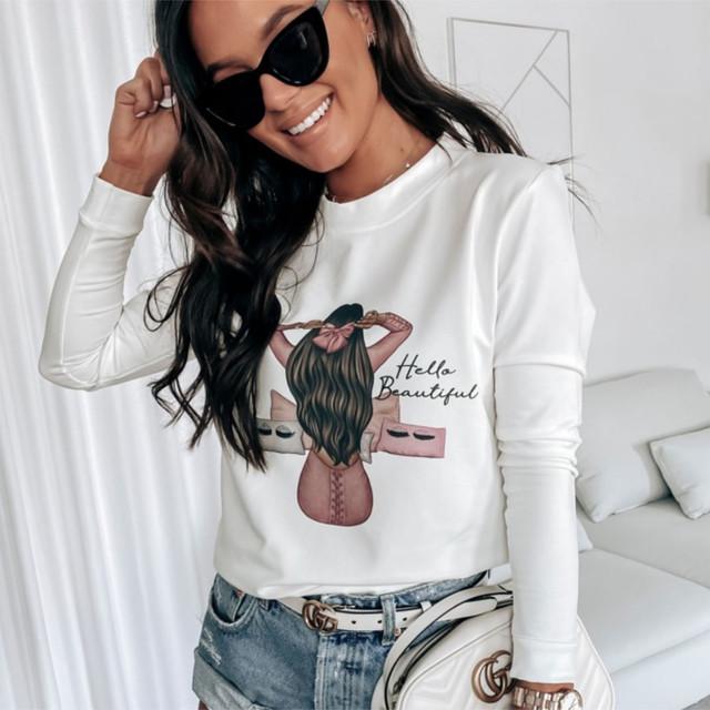 Женский модный свитшот