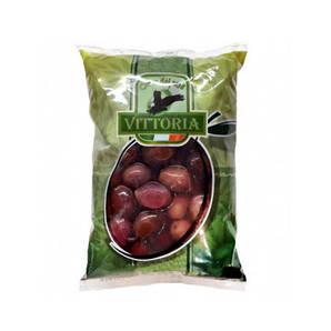 Оливки чорні VITTORIA Nere in Salamoia, ПАКЕТ, 500г нетто 850г брутто 10шт/ящ